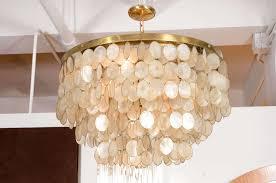 Capiz Shell Light Fixtures Captivating Capiz Shell Chandelier At 1stdibs