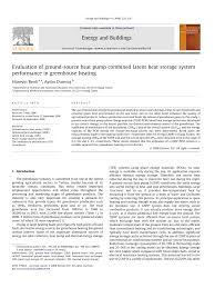 evaluation of ground source heat pump combined latent heat storage