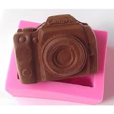 new arrival design mk 0252 camera shape silicone 3d cake fondant