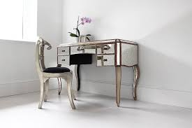 mirrored vanity desk drawers doherty house chic mirrored