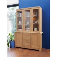 3 Door Display Cabinet Buy Of House Elford 3 Door Display Cabinet Oak Effect At