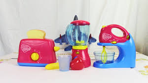 Colorful Toasters Play Right Toy Kitchen Appliances Blender Toaster And Mixer Review