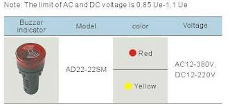 24vdc led indicator light buzzer 24vdc led indicator light 22mm led pilot light waterproof