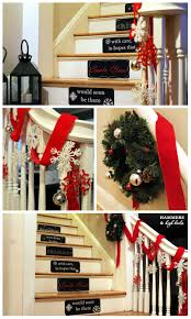 beautiful christmas decorations that turn your staircase into a