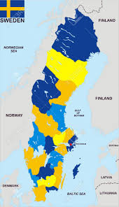 Map Sweden Very Big Size Sweden Political Map With Flag Stock Photo Picture