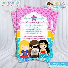 superhero invitations invitation super birthday party invites