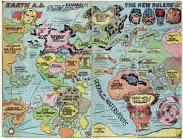World Maps by Fricking Awesome Maps From The Silver Age Of Comic Books Wired