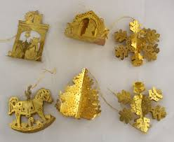 brass ornaments from grandmas tree