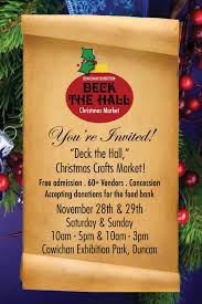 deck the hall christmas craft market my cowichan valley now