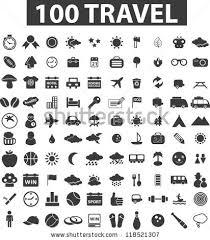 100 travel icons set vector stock vector 118521307 shutterstock