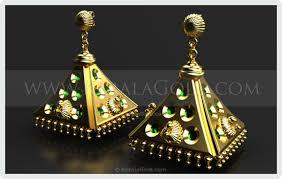 kerala earrings kerala gold jewellery design earring 23