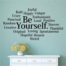 aliexpress com buy character be yourself bold happy unique vinyl aliexpress com buy character be yourself bold happy unique vinyl wall decal words letters teen room wall sticker office bedroom home decoration from