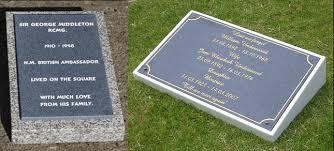 grave plaques memorial granite wedges the sign maker