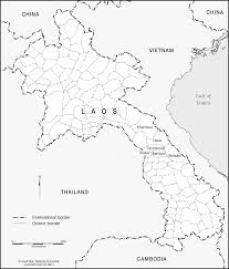 Laos World Map by Laos District Borders Cartogis Services Maps Online Anu