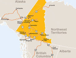Alaska Road Map by Maps Travel Yukon Yukon Canada Official Tourism Website For