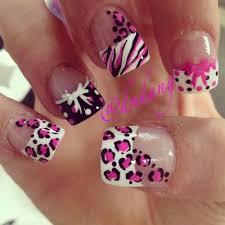 leopard print pink nail art nails pinterest pink nails