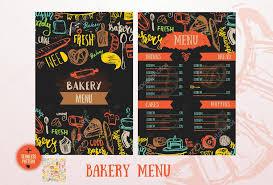 bakery cafe menu design template vintage hand drawn baking sketch