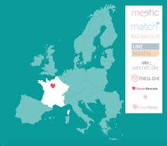 France On A World Map by Meetic Launches New Site For Over 50s Called Disonsdemain Global