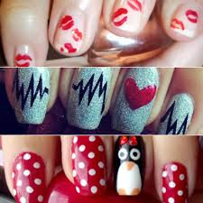 exceptional nail design along with valentine valentines day nails