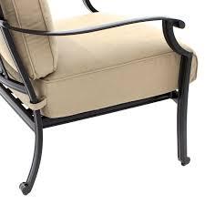 Sunbrella Rocking Chair Cushions Carondelet 4 Piece Cast Aluminum Patio Conversation Set W Sofa