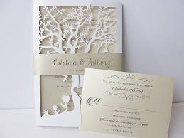 tree wedding invitations tree laser cut wedding invitation