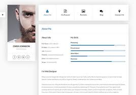 resume html template 20 best personal vcard resume html templates web graphic