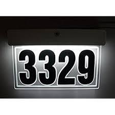 Lighted House Number Sign Custom Back Lit Led Address Sign Lighted House Number Illuminated