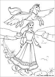 magic pegasus coloring picture