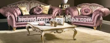 canapé royal nouveau classique exquis pourpre velours aile bras canapé royal