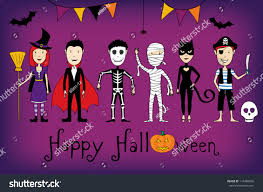 halloween card kids costumes stock vector 114488836 shutterstock