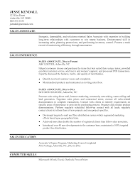 Resume Sales And Marketing Objectives by Sales Associate Resume Resume For Study