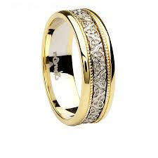 two tone wedding rings wedding rings wedding ring two tone real diamond engagement