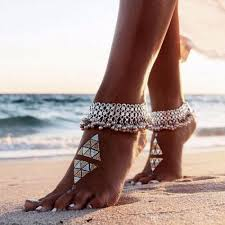 fashion ankle bracelet images Fashion sexy vintage silver anklet chain bell beads ankle bracelet jpg