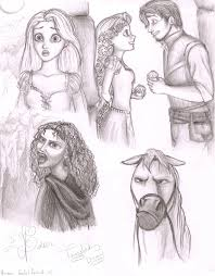 tangled sketches by coolcatflora on deviantart
