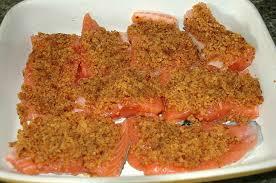 cuisiner pavé de saumon au four saumon pané au d épice