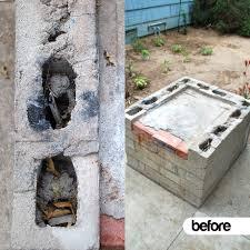 cinder block outdoor fireplace dact us