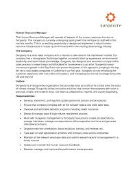 Sample Human Resource Manager Resume Sample Application Letter For Human Resource Management
