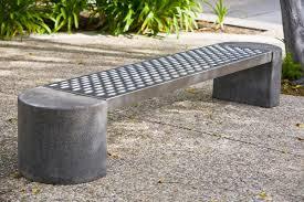 Round Concrete Patio Table Concrete Garden Bench Home Outdoor Decoration