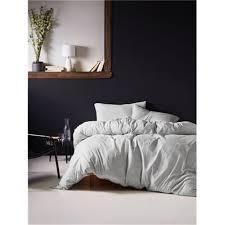 Linen House Bed Linen - linen house hemsworth grey jersey quilt cover set double quilt