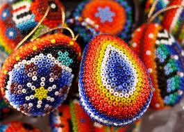 egg ornament huichol bead collection small huichol egg ornaments hegg02