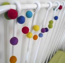 how to make an easy felt ball garland a baby on board blog