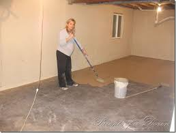 Covering Concrete Walls In Basement by Painting An Unfinished Basement So Easy A Pregnant Woman Can Do