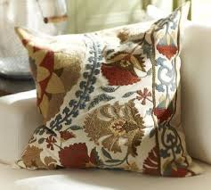 mila suzani embroidered pillow cover pottery barn for the home