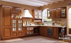how to clean cherry wood cabinets traditional l shaped cherry wood kitchen plcc18079 oppein