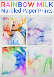 how to make rainbow milk marbled paper art mum in the madhouse