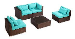 Turquoise Patio Furniture by Amazon Com Kardiel Modify It Aloha Kauna 5 Piece Espresso Wicker