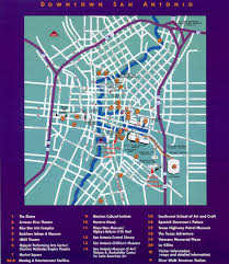 Map Of San Antonio Texas San Antonio Downtown Tourist Map San Antonio Tx U2022 Mappery