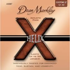 Medium Light Guitar Strings by Dean Markley 2087 Cl Helix Acoustic Phos Guitar Strings Dm2087