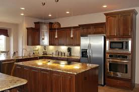 small open kitchen design example of a trendy kitchen design in