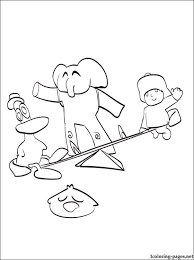 pocoyo coloring coloring pages